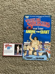 WWF Andre The Giant LJN Wrestling Poster 1984 Backing card WWE Very NICE