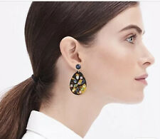J.Crew Factory Crystal And Tortoise Drop Earrings! New$26.50 Nwt