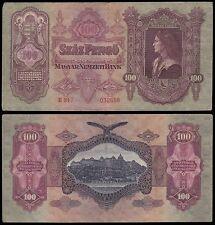 Hungary 100 Pengo, 1930, P-98, Circulated