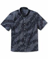 Reyn Spooner Mens Shirt Blue Size XL Button Down Stripe Flower Pocket $98 #039