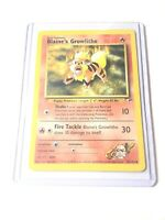 BLAINE'S GROWLITHE - Gym Heroes  - 35/132 - Uncommon - Pokemon Card - NM