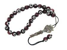 0907 - Prayer Beads / Worry Beads 8mm Glass Lucky Evil Eye Beads Handmade Design