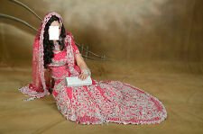 ASIAN INDIAN BRIDAL SUIT WEDDING LENGHA DESIGNER DRESS SHALWAR KAMEEZ SWAROVSKI