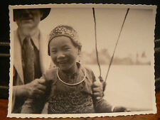 photo amateur vers 1938 chine china yunnan enfant chinoise gros plan