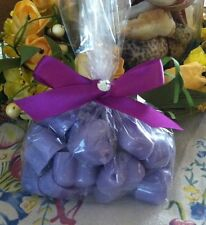 30 LILAC Wax Tarts CHUNKY HEARTS Strongly Scented Handmade Candle Wax Melts