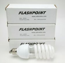 3 FPFB30 Adorama Photo Pro Flashpoint Full Color 5500K Lamps 30W=150W. NEW.