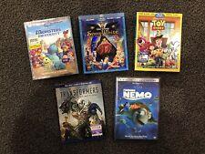 Lot of 5 Movies: 4 Blu-Ray & 1 DVD - Disney/Pixar/Transformers/Nemo/Snow White
