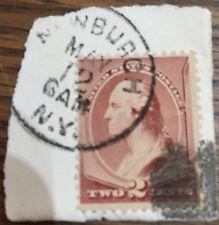US STAMP 1883 SCOTT 210   NEWBURCH (NY) CANCEL