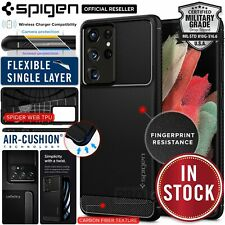 Spigen Rugged Armor Case for Samsung Galaxy S21 Ultra 5G - Black