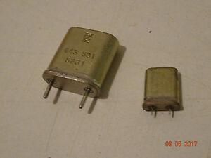 Quarze  kHZ - MHz,  verschiedene Bauform, 1 Stück zur Auswahl
