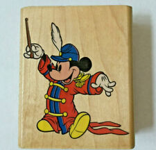 Mickey Mouse Bandleader Stamp Orchestral Music Baton Disney Rubber Stampede Rare