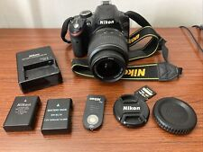 + Nikon D3200 24.2 MP Digital SLR Camera Black w/ Nikkor 18-55mm Lens & EXTRAS +
