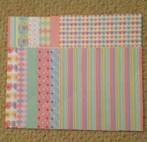 Craft, Scrapbooking, Card Making Backing Papers, ( 12 Sheets) ..