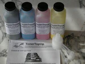 Rainbow Pack Toner Refills Lexmark Optra SC1275 4050 1361751 1361752 1710437-002