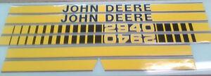 John Deere 2940 Hood Decals