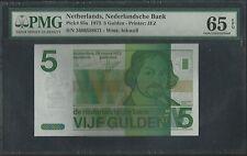 Netherlands P-95a 5 Gulden 1973 PMG 65 EPQ