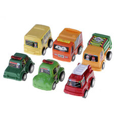 Fashion 6pcs/set Mini Cartoon Pull Back Cars Model Educational Toy For Baby Kids