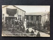 More details for rare postcard #m93 : king & queen mary visiting epsom military hospital