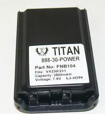 Battery For YAESU VX230, VX-230, VX231, VX-231, VX231L, VX-231L, VX234,VX-234