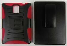 Zizo Rugged Hybrid + Slide Carrying Holster for BlackBerry Passport - Red