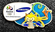 GREAT! SAMSUNG 2016 RIO OLYMPIC MASCOT GAMES PIN NOT FOR 2018 BRAZIL 2020 trader