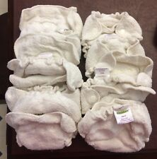 12 Kissaluvs Fitted Cloth Diapers Plus 5 Covers, Size 0 Newborn, VGUC