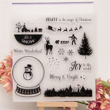 christmas winter transparent clear stamp for diy scrapbooking card making wellFA