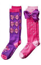 Nwt Jojo Siwa Set Of 2 Pink Purple Knee High Socks M/L 🎀 Mini Signature Bow
