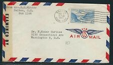 1944 Canal Zone WWII Censored Air Mail Cover - Balboa to Washington, DC