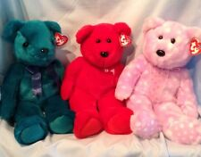 Ty Beanie Buddies 3/Lot Teddy, #1 Bear, Bravo  2000, 2002, 2003 Boy Girl 3+ $18