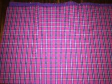 Tissu vintage écossais molletonné tartan 60 cm x 60 cm réf 927M