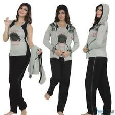 Cotton Blend Regular Size Tracksuits for Women
