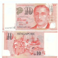 Singapore $10 Polymer Banknote UNC