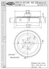 Brake Drum-CE Rear Magneti Marelli 1AMVD20303