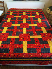 Hand Made Mystery Pattern Quilted Twin/Full Quilt