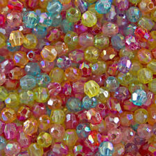 Acrylic Multi 6 - 6.9 mm Size Jewellery Beads