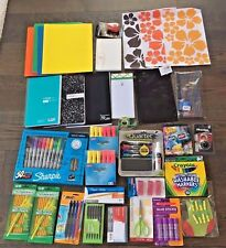 NEW Lot of School Office Supplies Pen Marker Pencil Highlighter Notebook 1086