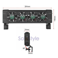 Aquarium Chillers Cooling Fan (4 fans) 160L Fish Tank + Power adapter 12V 0.48A