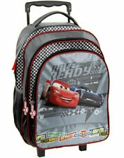 DISNEY CARS TROLLEY School Bag Backpack on wheels wheeled bag 48x31x23cm NEW