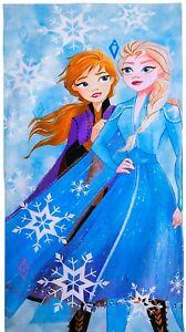 "Disney Frozen Elsa & Anna 28""x58"" All Cotton Beach Towel Pool Bath Shower Cover"