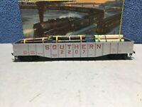 Athearn HO Scale #1649 - Southern Railway SOU #2207 - 50' Gondola Car with Load
