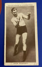 More details for churchman's cigarette card boxing personalities 12 - jack dempsey 1938