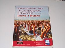 Management and Organisational Behaviour by Laurie J. Mullins (2001, Paperback)