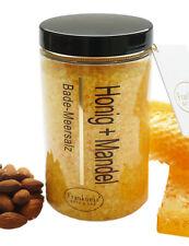 (€31,00/kg) Badesalz Honig Mandel Wellness Bade Meersalz aus dem Toten Meer 450g