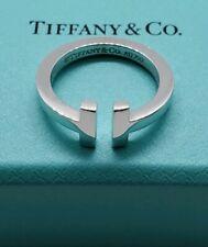 Tiffany&Co T Square Ring In 18K White Gold