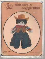 "Cowboy Sam 15"" Doll Pattern Sock Doll Pattern Homespun Creations Sealed"