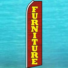 Furniture Flutter Flag Tall Curved Advertising Sign Feather Swooper Banner Wood