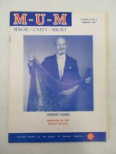 Mum Magazine February 1975 Herbert Downs Magic Unity Might Magician Vintage