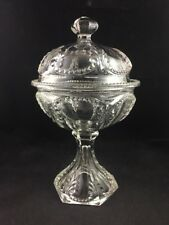 EAPG Fostoria Glass Co. Pattern Glass No. 676 PRISCILLA Compote w/ Lid c. 1898