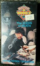 Doctor Who Seeds Of Death BBC 1990 VHS Still Sealed Shrinkwrap Troughton Rare!!